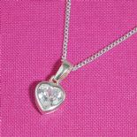 Crystal Small Heart Pendant ref. CHPP